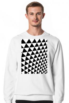 GEOMETRY trójkąty - bluza męska