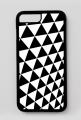 GEOMETRY trójkąty - iPhone 7 Plus, iPhone 8 Plus case black