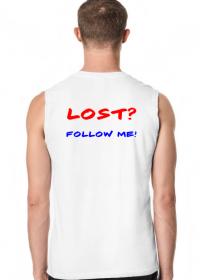 Męska koszulka bez rękawów - LOST? FOLLOW ME!