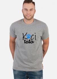 Koszulka męska - Koci tata