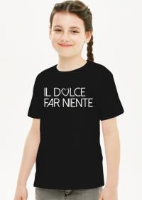 Tshirt il dolce far niente dziewczynka