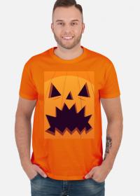 Straszna dynia w komiksowym stylu - Halloween - męska koszulka