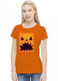 Straszna dynia w komiksowym stylu - Halloween - damska koszulka