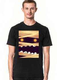 Sympatycznie straszna mumia w komiksowym stylu - Halloween - męska koszulka