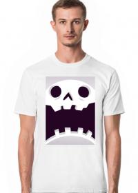 Sympatycznie straszna czaszka w komiksowym stylu - Halloween - męska koszulka