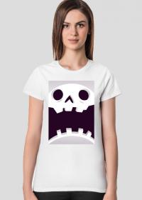 Sympatycznie straszna czaszka w komiksowym stylu - Halloween - damska koszulka