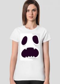 Sympatycznie straszny potwór w komiksowym stylu - Halloween - damska koszulka