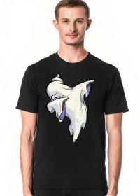Duch wykonujący taniec dab - komiksowy styl - Halloween - męska koszulka