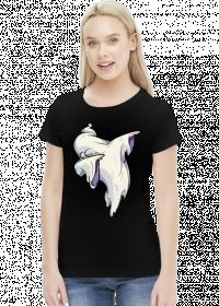 Duch wykonujący taniec dab - komiksowy styl - Halloween - damska koszulka