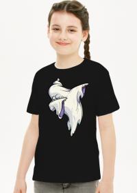 Duch wykonujący taniec dab - komiksowy styl - Halloween - dziewczynka koszulka