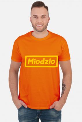 Prezent dla pszczelarza koszulka z napisem Miodzio