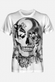 koszulka fullprint b&w skull