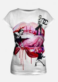 koszulka damska fullprint Banksy