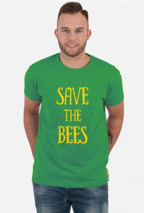 T-shirt z napisem dla pszczelarza Save the Bees