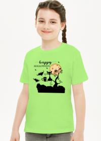 Happy Halloween - koszulka dziecięca z nadrukiem dla dziewczynki