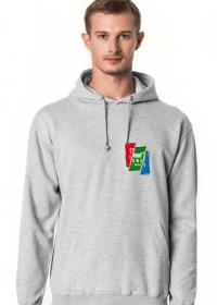 Bluza Kangurka - Kolorowe Logo Cięte