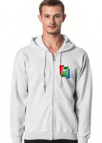 Bluza Rozpinana - Kolorowe Logo Cięte
