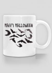 Happy Halloween - kubek z nadrukiem z nietoperzami