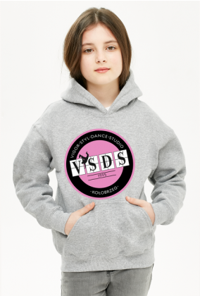 bluza VSDS dziecięca różowe logo