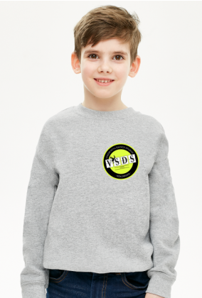 VSDS dziecięca bluza wyjazdowa żółte logo przód i tył