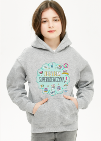Bluza z kapturem dziecięca Jestem Superdziewczyną!