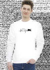 Linia życia - Motocykl (koszulka męska) cg