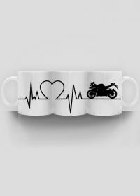 Linia życia - Motocykl (kubek panorama) cg