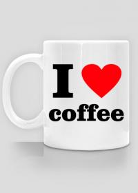 I Love Coffee - kubek z nadrukiem - kocham kawę