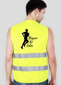 Biegam bo lubię - odblaskowa kamizelka dla biegacza