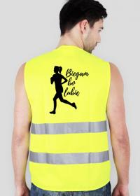 Biegam bo lubię - kamizelka odblaskowa dla biegaczki