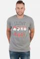 Urocze kotki w świątecznych czapkach. Napis Silent Night - Boże Narodzenie - Wigilia - śnieg - męska koszulka
