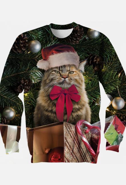 Bluza świąteczna, Kot, Grumpy Cat