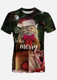 Koszulka święta, kot, grumpy cat, merry
