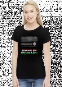Koszulka damska czarna Made in Hungary