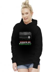 Bluza z kapturem damska czarna Made in Hungary