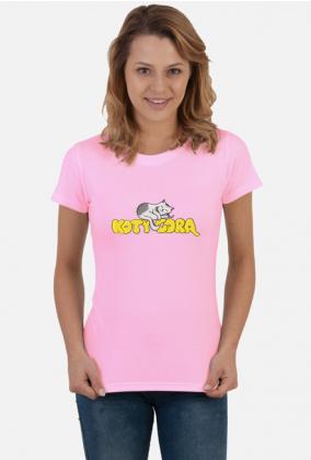 Koszulka Damska Koty Górą