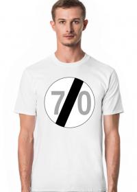 Prezent na 70 urodziny koszulka ze znakiem 70