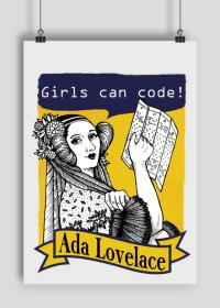 Girls can code plakat