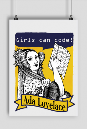 Girls can code plakat