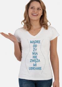 mądre odżwyianie koszulka damska 1
