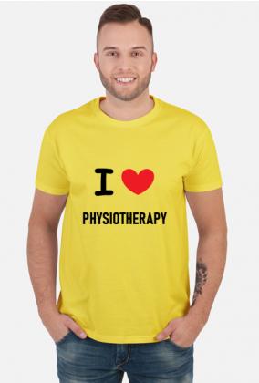 Koszulka męska I LOVE PHYSIOTHERAPY - fizjoterapia