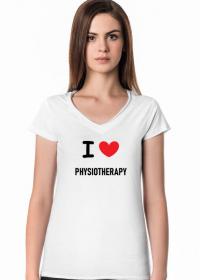 Koszulka damska I LOVE PHYSIOTHERAPY - fizjoterapia