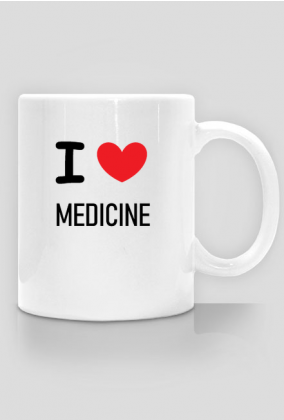 Kubek I LOVE MEDICINE / medycyna / lekarz