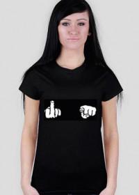 Fuck Hands Black T-Shirt Women