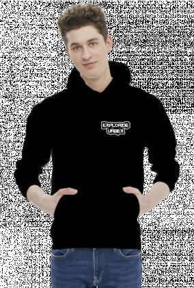 EXPLORIDE HOODY MINIMAL -czarna z małym logo z przodu