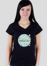 Koszulka damska Jestem Superdziewczyną!