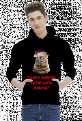 kot, grumpy cat, święta, prezent, merry srerry
