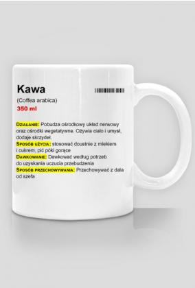 """Kubek do kawy """"Kawa"""" - ulotka, dla lekarza, farmaceuty"""