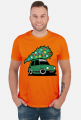 ZIELONY MALUCH Z CHOINKĄ - kolorowa koszulka męska