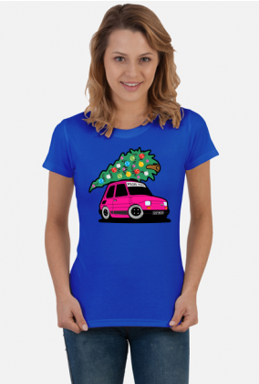 WRZOSOWY MALUCH Z CHOINKĄ - kolorowa koszulka damska